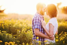 Engagement Photos with Wildflowers // Santa Barbara, CA // CeJae Photography