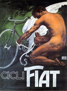 men <3 are from mars - Plinio Codognato - Cicli Fiat (painting for poster)