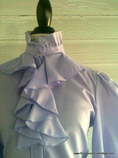 Vintage Lavender Blouse  1970s Ruffled by runaroundsuevintage, $24.00