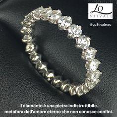 Il diamante è una pietra indistruttibile, metafora dell'amore eterno che non conosce confini.  Per Info: ✉ info@lostivale.eu https://lostivale.eu/ #LoStivale #Style #Bracciale #Anello #Gioiello #Gioielli #Fashion #Trendy #Articoli da #Regalo #Oro #Argento #Luxury #Montblanc #Pen #Bracelet #Necklace #Ring #Jewel #Jewels #Bijoux #Jewellery #Jewelry #Collier #Diamante #Diamanti
