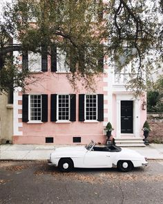This week has consisted of candy colored historic homes fabulous dresses and this 1957 Benz dream car. I dont want to leave! More action on