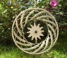 Lughnasadh Wheat Wreath.Sun God Lugh. Lammas Wall Hanging.. £8.95, via Etsy.