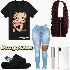 baddie outfits for school Baddie fits Boujee Outfits, Swag Outfits For Girls, Teenage Girl Outfits, Cute Swag Outfits, Cute Comfy Outfits, Girls Fashion Clothes, Teenager Outfits, Teen Fashion Outfits, Girly Outfits