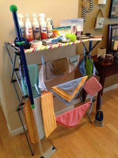Great idea for limited or no table space at the host's home!!