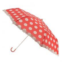 Parapluie avec bordure froufrous motif à pois