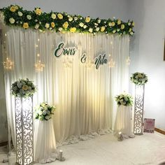 Best 11 [Video] The 10 Best Home Decor (in the World) Wedding stage decorations, Engagement decorations, Church… in 2020 Wedding Stage Backdrop, Wedding Backdrop Design, Wedding Stage Design, Desi Wedding Decor, Church Wedding Decorations, Engagement Party Decorations, Backdrop Decorations, Ceremony Decorations, Wedding Table