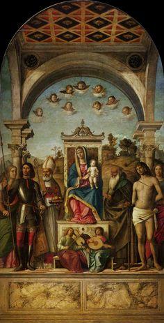 TICMUSart: Madonna and Child with saints - Cima da Conegliano... (I.M.)