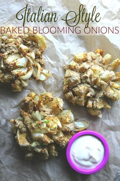Baked Italian Style Blooming Onions – Simply Taralynn