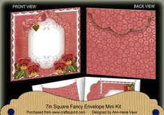 Dark Red Pansy Beaded Fancy 7x7inch Easy Envelope Mini Kit on Craftsuprint - Add To Basket!