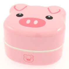 Tiered piggy bento box via amazon
