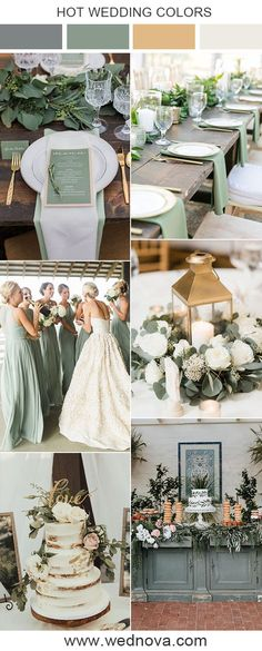 10 Sage Green Wedding Color Palettes for 2020 Trends Colors for Wedding Wedding Themes, Wedding Decorations, Wedding Ideas, Wedding Blog, Wedding Cakes, Dream Wedding, Message Sms, Sage Green Dress, Love Card