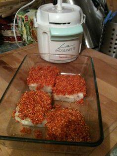 cabillaud en croute de chorizo