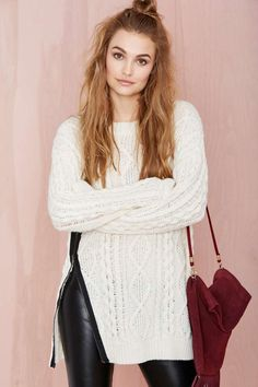We love a good crop top, but sometimes a girl just needs a cozy sweater.