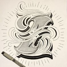 Hand lettering Typography – Z