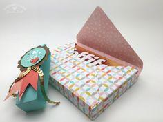 Stampin Up - Stempelherz - Verpackung - Box - Sale-a-bration - Inspiration - Stempelset Wir beide - Envelope-Punchboard - Toffifee-Verpackung Du + Ich 05 Scrapbook Paper Crafts, Diy Scrapbook, Scrapbooking, Chocolates, Envelope Punch Board, Card Making Techniques, Craft Box, Punch Art, Card Sketches