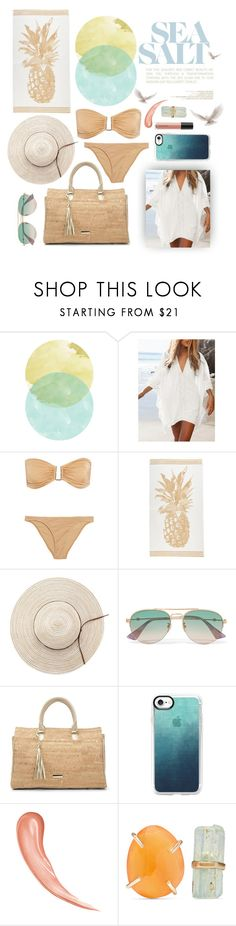 """""""Sand and Surf"""" by nikkisto ❤ liked on Polyvore featuring Melissa Odabash, Gucci, Donald J Pliner, Casetify, Melissa Joy Manning and Bare Escentuals"""