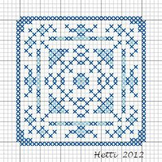 Creative Workshops from Hetti: # SAL Delft Blue Tiles 2012. (Part 8 exists of two patterns you sometimes see along the edges and in the corners of Delft blue tiles. Now it's become one pattern for the edge of the Tile sampler).