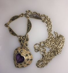 A personal favorite from my Etsy shop https://www.etsy.com/listing/511415834/amethyst-sterling-silver-marcasite-heart