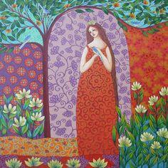 Risultati immagini per Sonia Koch Edith Holden, Cicely Mary Barker, Maria Goretti, Female Portrait, Woman Portrait, Kochi, Pattern Art, Figurative Art, Love Art