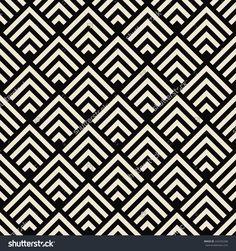 Art Deco Black And White Texture. Seamless Geometric Pattern ...