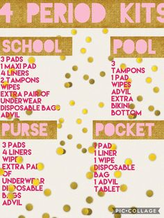 Period kits for school pool purse and pocket! Period kits for school pool purse and pocket! The post Period kits for school pool purse and pocket! appeared first on School Ideas. Middle School Hacks, High School Hacks, Life Hacks For School, Back To School Ideas For Teens, Back To School Life Hacks, Back To School Highschool, Period Kit, Period Hacks, Schul Survival Kits