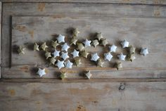 Decorative Paper Stars / Table Confetti / Wishing Stars / Wedding Table Decor