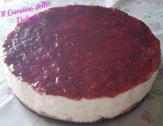 Cheesecake con crema di fragole