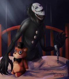 Nightmare Puppet by Soft-Death on DeviantArt Good Horror Games, Horror Video Games, Marionette Fnaf, Anime Fnaf, Fnaf 1, Freddy 3, Anime Halloween, Fandom, Sister Location