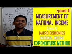 Episode 10 National Income | Expenditure method Macro economics | Class 12 - YouTube