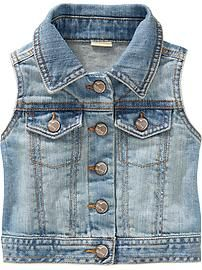 Old Navy | Toddler Girls | Outerwear. Denim vest is a must have this spring.