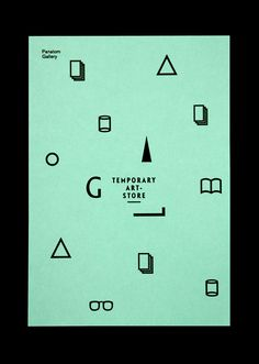 ✖ Temporary Art-Store Poster for Panatom Gallery