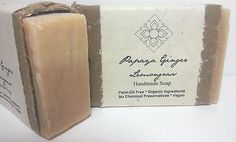 Certified Organic Handmade Soap Papaya Ginger Lemongrass Palm Oil Free Bar | Robinsons Nest | Organic Cruelty Free Vegan Health Products