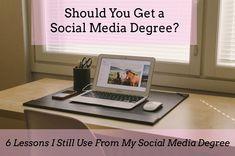 6 Lessons I Still Use From My Social Media Degree #socialmedia #graduateschool #socialmediadegree