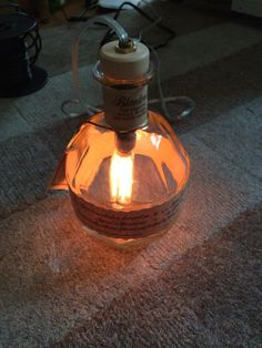 Lights! Upcycled Blanton Bourbon Bottle Lamp by ThompsonsTaxonomy on Etsy, $85.00