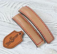 Cuir v/éritable Couleur Marron clair militaire Cuff Bracelet de montre 18/mm 20/mm 22/mm et 24/mm