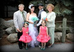 Bride's Parents and Flower Girls