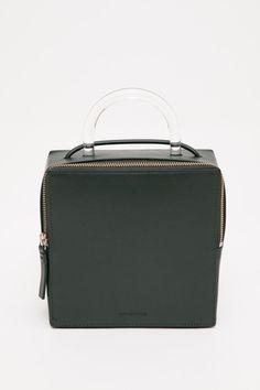 Building Block - Lucite Handle Box Bag via @shopacrimony