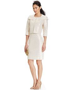 Tahari ASL Bolero Dress Suit - All Suits & Suit Separates - Women ...