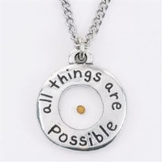Pewter Mustard Seed Necklace.  A great reminder of what the smallest faith can accomplish.