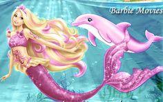 Barbie as a mermaid. I love Barbie movies....can't help it.