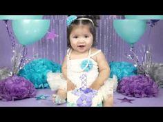 Baby M Cakesmash Turquoise & Purple Star Cakesmash