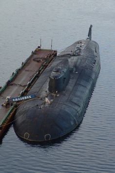 """RFS Smolensk ) Project """"Antey"""" ( Oscar II ) Nuclear-Powered Cruise Missile Submarine ( SSGN ) Commissioned in 1990 , Russian Northern Fleet Navy Marine, Navy Military, Russian Nuclear Submarine, American Aircraft Carriers, Us Navy Submarines, Soviet Navy, Cruise Missile, Us Navy Ships, Army Vehicles"""