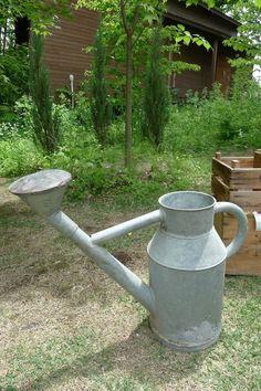 アンティーク ブリキのジョーロ(縦長) French antique zinc watering can(long) ¥ 9,800yen
