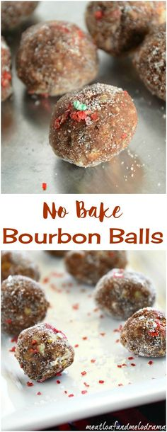 No Bake Bourbon Ball cookies are easy to make and perfect for Christmas gifts, parties or cookie exchanges