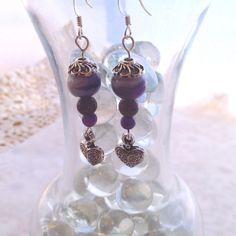Handmade Victorian Amethyst Dangle Earrings, Victorian meets Boho styling #Handmade #DropDangle
