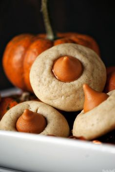 Chai Pumpkin Spice Thumbprints Recipe ~ http://tastykitchen.com/recipes/desserts/chai-pumpkin-spice-thumbprints/