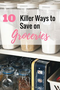 10 Killer Ways to Save Money on GroceriesThese are 10 Great tips to help you save money on groceries. Check out all these ideas and learn to be frugal with your grocery budget. Source by plin. Living On A Budget, Frugal Living Tips, Frugal Tips, Frugal Family, Family Budget, Family Meals, Save Money On Groceries, Ways To Save Money, How To Make Money