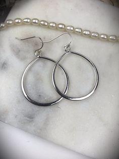 Silver Plated Elegant Hoops – Belvie Jewelry