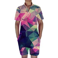 fc9f446385c Harajuku Geometric Shape Rompers For Men Tag a friend who would love this!  FREE Shipping