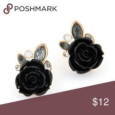 d0c495a939da Online Shop Nueva moda 2015 corea moda dulce flor color de rosa rojo blanco  Stud pendientes para mujeres brincos accesorios joyería venta al por mayor